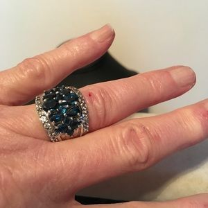 Jewelry - Treated London Blue Topaz and White Topaz Ring